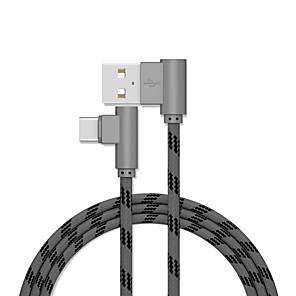 ieftine încărcător cu cablu-Tip C Cablu 2.0M (6.5Ft) Placat Auriu / Rapidă încărcare Aluminiu Adaptor pentru cablu USB Pentru Samsung / Huawei / Xiaomi