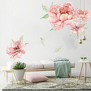 voordelige Wanddecoratie-grote roze bloemen muurstickers - woorden& ampamp quotes muurstickers tekens studeerkamer / kantoor / eetkamer / keuken