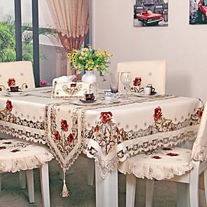 ieftine Fețe de masă-Contemporan Țara fibră de poliester Pătrat Fețe de masă Floral Cu model Brodată Decoratiuni de tabla
