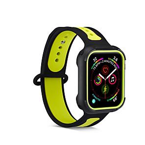 ieftine Cabluri Ethernet-curea de silicon pentru banda de ceas de mână 44mm / 40mm / 42mm / 38mm correa sport brățară watchband pentru curea de iwatch 4/3/2/1 cauciuc wrisbelt