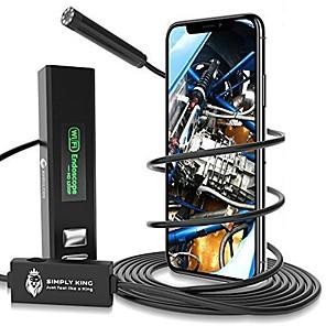 ieftine Switch inteligent-wifi endoscop greu cablu de inspecție hd camera 8leds borescope pentru iphone android