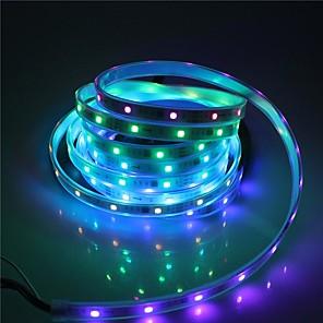 ieftine Becuri LED Glob-brelong smd5050 10mm 5m 300led carcasă bară de lumină impermeabilă 21 control cheie cu infraroșu cu 5a alimentare alb