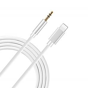 זול אוזניות קוויות-8pin כדי שקע 3.5mm שקע אודיו עבור