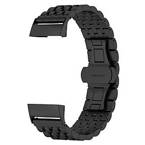 ieftine Părți Motociclete & ATV-Uita-Band pentru Fitbit Charge 3 Fitbit Design Bijuterie Oțel inoxidabil Curea de Încheietură