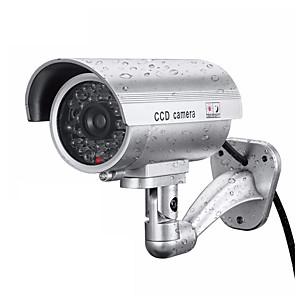 povoljno LED noćna rasvjeta-bežični 3.6mm leća ccd lažna lutka kamera vanjska kućna sigurnost cctv kamera pravokutnik ipx-6k vodootporna 168 ° kut gledanja simulirana kamera