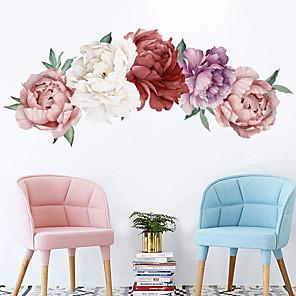ieftine Decorațiuni de Casă-Autocolante de Perete Decorative - Autocolante perete plane Peisaj / Floral / Botanic Sufragerie / Dormitor / Bucătărie / Re-poziționabil