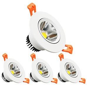 ieftine Becuri LED Încastrate-zdm 4pcs dimmer 3w 350lm lămpi de tavan încorporate direcționale decupate tăiat 2.5in (65mm) 60 unghi de acționare ac110v / ac220v