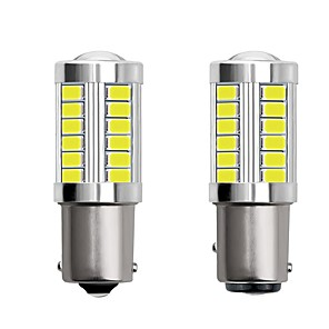 ieftine Lumini de Mașină Spate-2pcs 1156 ba15s 1157 bay15d auto condus becuri 4w 12v smd 5730 33 LED-uri lumini de semnalizare lumini spate lumini de frână lămpi stop