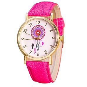 ieftine Cuarț ceasuri-Pentru femei Quartz Quartz PU piele Negru / Alb / Pink Ceas Casual Analog Modă - Roz Îmbujorat Mov Roșu trandafiriu Un an Durată de Viaţă Baterie / Oțel inoxidabil