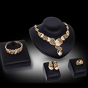 ieftine Colier la Modă-Pentru femei Seturi de bijuterii Seturi de bijuterii de mireasă Eliminat Prețios Modă Placat Auriu cercei Bijuterii Auriu Pentru Crăciun Nuntă Petrecere / Seară Cadou Oficial 1set