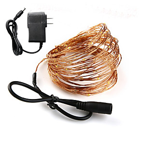 ieftine Fâșii Becurie LED-LOENDE 10m Fâșii de Iluminat 100 LED-uri 1set Alb Cald RGB Alb Rezistent la apă Petrecere Decorativ 100-240 V