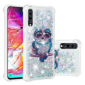 お買い得  LED スポットライト-ケース 用途 Samsung Galaxy A6 (2018) / A6+ (2018) / Galaxy A7(2018) 耐衝撃 / リキッド / クリア バックカバー 動物 / キラキラ仕上げ ソフト TPU