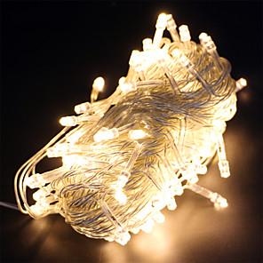 ieftine Fâșii Becurie LED-10m Fâșii de Iluminat 100 LED-uri Adaptor 1 x 12V 2A 1set Alb Cald RGB Alb Rezistent la apă Creative Petrecere 12 V
