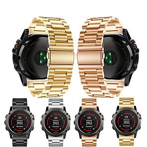 Недорогие Часы и ремешки Garmin-Ремешок для часов для Fenix 5x / Fenix 5x Plus / Fenix 3 HR Garmin Спортивный ремешок Металл / Нержавеющая сталь Повязка на запястье
