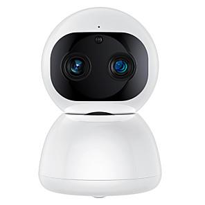 povoljno Maske/futrole za Xiaomi-sdeter 1080p wifi kućni pametni fotoaparat preklopivi dual objektiv sirena alarm zvuk ip sigurnost ptz kamera s noćnim vidom pokreta za dete