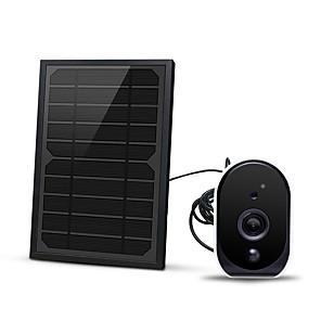 저렴한 -1080p 18650 배터리 5w 태양 전지 패널 낮은 배터리 wifi ip 카메라
