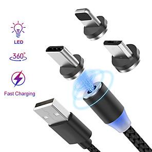 povoljno Maske/futrole za Nokiju-Rasvjeta Kabel 1.0m (3ft) U obliku pletenice / S magnetom / LED Najlon / Netkani / svjetlećim USB kabelski adapter Za iPad / iPhone