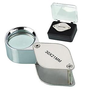 ieftine Lupe-30X 30x21mm Arunca Forma Folding bijutier lui Eye Loupe Lupa lupă microscop