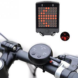 זול מצלמות ספורט ומיני-לייזר LED פנסי אופניים Jarruvalo פנס אחורי לאופניים אורות בטיחות LED רכיבת הרים אופנייים רכיבת אופניים עמיד במים מצבי מרובות סופר מואר שלט רחוק 100 lm ניתן לטעינה USB רכיבה על אופניים / ABS