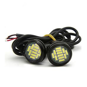 ieftine Lumini de Rulare Zi-2pcs dc 12v 18w de înaltă putere vultur ochi lumina în timpul zilei de funcționare drl de rezervă lumina masina auto lampă