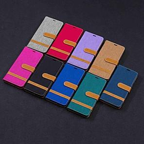 ieftine Carcase / Huse de Nokia-Maska Pentru Nokia Nokia 5.1 / Nokia 4.2 / Nokia 3.1 Portofel / Titluar Card / Cu Stand Carcasă Telefon Țiglă Greu textil
