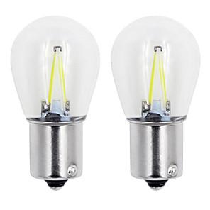 ieftine Becuri De Mașină LED-1buc 1156/1157 becuri auto 2 w cob 160 lm 2 lumini de semnalizare direcție / lumini de frână / lămpi de mers înapoi (de rezervă) pentru universali toți anii