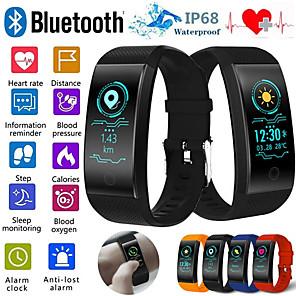 ieftine Ceasuri Smart2-qw18 smart brățară monitor de ritm cardiac ip68 impermeabil ecran color fitness tracker bandă ceas în aer liber sport brățară