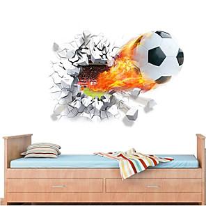 ieftine Acțibilde de Decorațiuni-Fotbal / #D Perete Postituri 3D Acțibilduri de Perete Autocolante de Perete Decorative, PVC Pagina de decorare de perete Decal Perete Decor 1 buc / Detașabil