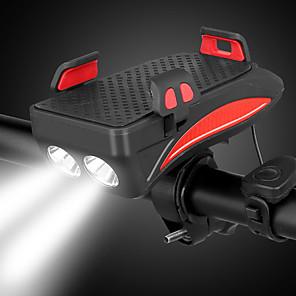 ieftine Frontale-LED Lumini de Bicicletă Iluminat Bicicletă Față LED Ciclism montan Bicicletă Ciclism Rezistent la apă Foarte luminos Siguranță Portabil Li-polymer 400 lm Baterie reîncărcabilă Alb Roșu Camping