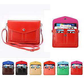 Недорогие Универсальные чехлы и сумочки-6,3-дюймовый чехол для универсальной сумки на ремне / держателя карты сплошной мягкой кожи