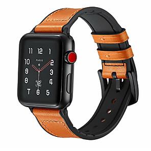 Недорогие Ремешки для Apple Watch-ремешок из натуральной кожи для часового ремешка Apple 44мм / 40мм / 42мм / 38мм для спортивной пряжки iwatch 1/2/3/4