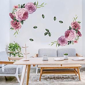 hesapli Dekorasyon Etiketleri-çiçek açan çiçekler duvar çıkartmaları - sözler& ampamp duvar çıkartmaları karakterler tırnaklar çalışma odası / ofis / yemek odası / mutfak