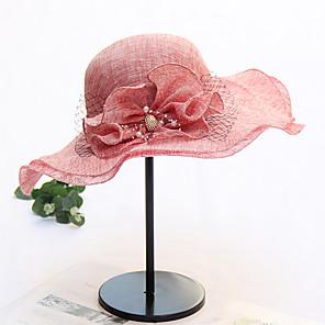 ieftine Pălării Femei-Pentru femei Palarie de soare Plasă Activ De Bază Cute Stil - Bloc Culoare Print Floral Primăvară Vară Roșu Vin Negru Roz Îmbujorat