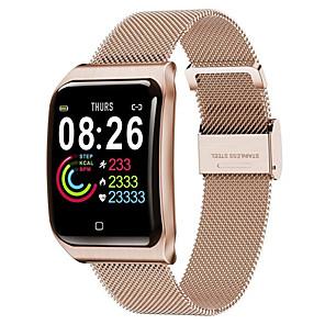 povoljno Ženski satovi-f9 smartwatch nehrđajući čelik bt fitness tracker podrška obavijesti i monitor otkucaja srca kompatibilni Apple / samsung / android telefoni
