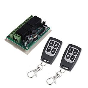 ieftine Convertor de Voltaj-dc12v 4ch comutator de la distanță fără fir / cod de învățare 4ch recepție releu / putere on / off impermeabil la distanță / momentan / comutare / blocat se poate schimba / 433mhz