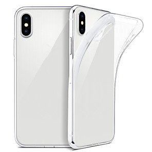 abordables Coques d'iPhone-cas pour iphone xs max xs mince clair soft tpu couverture support charge sans fil pour iphone xr 8 plus 8 7 plus 7 6 plus 6