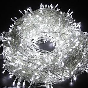 hesapli LED Şerit Işıklar-20m Dizili Işıklar 200 LED'ler Dip Led 1pc Sıcak Beyaz Beyaz Mavi Parti Dekorotif Sevimli 220-240 V / IP44