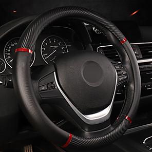 levne Organizátoři aut-univerzální kryt volantu z umělé kůže pohodlný protiskluzový kryt volantu automobilu