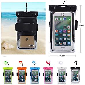 povoljno Maske/futrole za Xiaomi-za univerzalne univerzalne vodootporne / vodootporna vodootporna torbica čvrste boje mekani pvc za univerzalne velcro otvoreni kupanje vrata vješanje mobitel torba unisex 6 inča \ t
