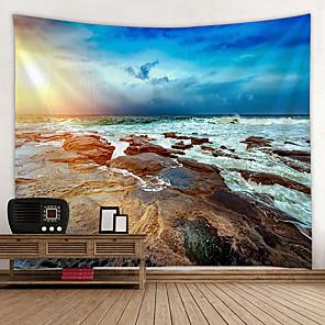 ieftine Decor de Perete-Temă Plajă Wall Decor 100% Poliester Mediteranean / Modern Wall Art, Tapiserii de perete Decor