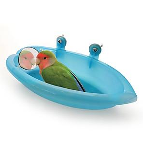 povoljno Dekoracija doma-Ptica Kada s ogledalom Prijenosno Jednostavna instalacija plastika Bird Igračke 18.7*10*3.5 cm