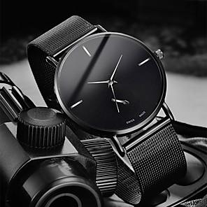ieftine Ceasuri Bărbați-Bărbați Ceas Elegant Quartz Stl Oțel inoxidabil Negru / Argint / Auriu 30 m Rezistent la Apă Ceas Casual Cool Analog Casual Modă - Negru Argintiu Roz auriu Un an Durată de Viaţă Baterie