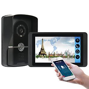 ieftine Becuri De Mașină LED-618fc11 7 inch capacitiv ecran tactil camera video cu fir wavi video / 3g / 4g apel de la distanță debloca de stocare intercom vizual unul la unu
