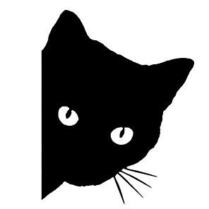 ieftine Colier la Modă-12x14cm pisica masina fata pet decal drăguț masina camion fereastra barei de protecție perete reflector autocolant