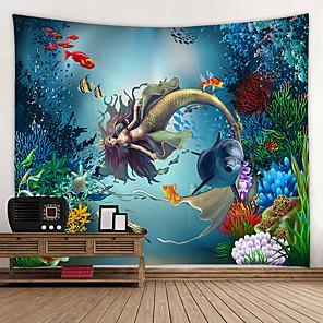 hesapli Dekorasyon Etiketleri-Bahçe Teması / Peri Masalı Teması Duvar Dekoru %100 Polyester Modern Duvar Sanatı, Duvar Halılar Dekorasyon