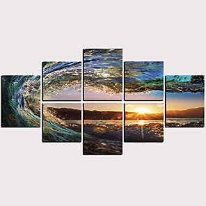 Trykk Valset lerretskunst - Abstrakt Naturskjønn Klassisk Moderne Kunsttrykk