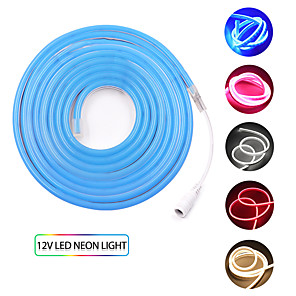 ieftine Întrerupătoare & Prize-KWB 2m Fâșii De Becuri LEd Flexibile 240 LED-uri SMD3528 1set Alb Cald Alb Roșu Rezistent la apă Creative Ce poate fi Tăiat 12 V