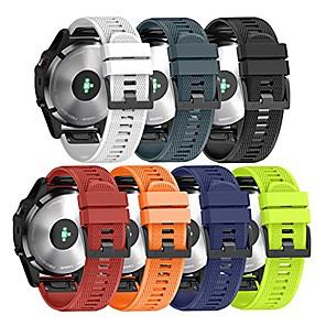 Недорогие Часы и ремешки Garmin-Ремешок для часов для Fenix 5 / Fenix 5 Plus / Garmin Quatix 5 Garmin Спортивный ремешок силиконовый Повязка на запястье