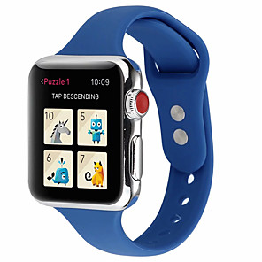 Недорогие Ремешки для Apple Watch-красочный мягкий силиконовый спортивный ремешок для apple watch series 1 2 3 4 ремешок для часов ремешок для 40мм / 44мм / 38мм / 42мм