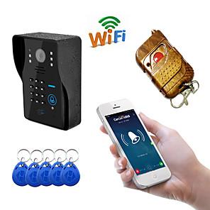 ieftine Switch inteligent-wifi1002ids wifi / ip sonerie hd 1080p impermeabil video soneră apel interfon interblocare deblocare parolă funcție de glisare încorporată în difuzor perete montare hands-free unu la unu video video